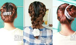3 kiểu bện sáng tạo cho mái tóc lửng