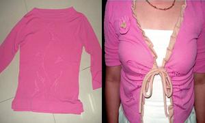 Biến áo của mẹ thành áo 'ku te'