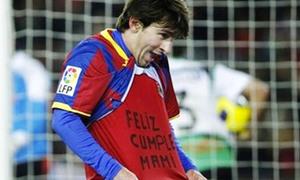 Chúc mừng sinh nhật mẹ, Messi nhận án phạt