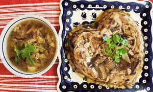 Thịt gà nấu đông hình trái tim hơi bị cute đấy