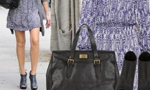 Zoom vào street style của Jessica Alba
