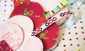 Chế giỏ tim đựng quà kool cho Valentine