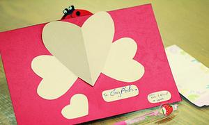 Pop-up trái tim cho bạn iu của chúng mình