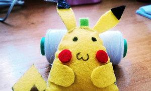 Móc điện thoại Pikachu bụng bự