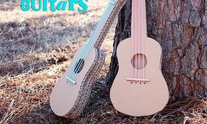 Chế đàn guitar cực chất từ bìa các tông