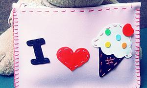 Ví handmade I ♥ kem ^_^