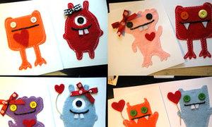 Thiếp handmade hình monster rất cute