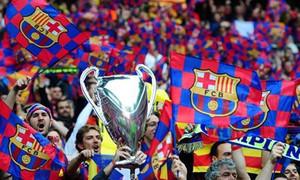 CĐV Barca khuấy động Wembley