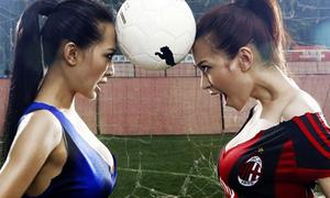 Hai mỹ nhân siêu nóng bỏng 'đại chiến' siêu Cup Italia 2011