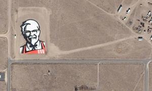 Logo các thương hiệu nổi tiếng trên Google Earth
