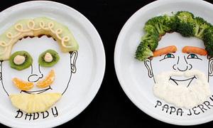 Chiêu trang trí đĩa bằng... thức ăn
