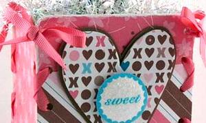Cách làm hộp quà cực kute từ giấy và ruy băng