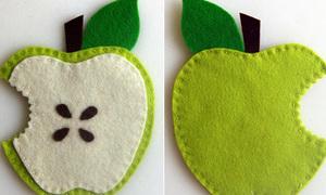 Lót ly hình quả táo cắn dở cho tín đồ Iphone