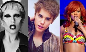 Lady Gaga, Justin Bieber, Rihanna lập kỉ lục Guiness
