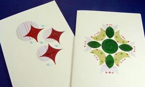 Thiếp handmade từ giấy bọc quà màu mè