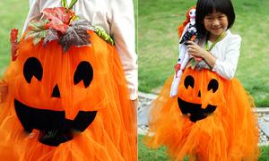 Váy bí ngô cực xinh diện đêm Halloween