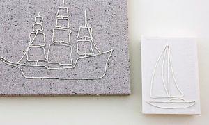 'Vẽ' tranh canvas bằng dây dù
