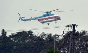 Trực thăng đưa ông chủ Facebook về tới Hà Nội