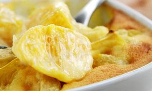 Chăm làm bánh chuối nhân cam để măm cho béo