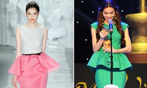 Nhấn eo thon với áo váy peplum như sao Việt