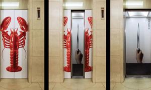 Quảng cáo thang máy siêu sáng tạo