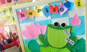 Bảng tin ếch cốm chào năm mới