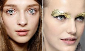 """Xu hướng makeup với 'vật thể lạ"""""""