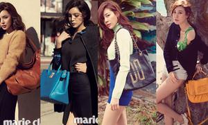 Mix đồ với túi xách 'pro' như hoa hậu Park Shi Yeon
