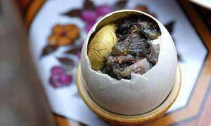 Trứng vịt lộn 'gây sốt' trên báo nước ngoài