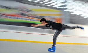 Khoái với sân trượt băng ngay giữa 'giảng đường'