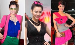 Trang Nhung với gu thời trang màu mè, 'sến súa'