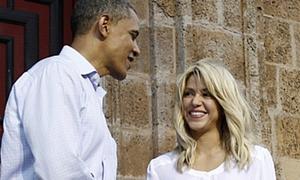 Shakira 'sánh bước' cùng Tổng thống Obama