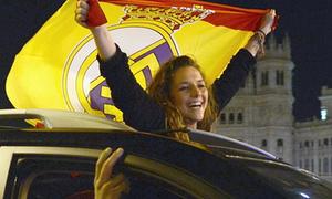 Madridistas náo loạn đường phố mừng chức vô địch La Liga