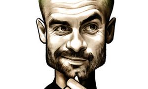 Ảnh biếm họa ngộ nghĩnh của Pep Guardiola