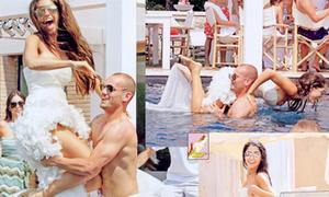 Vợ chồng Sneijder tình cảm 'vượt mặt' Becks - Vic