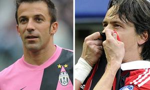 Serie A chia tay hai 'tượng đài' Filippo Inzaghi và Del Pirero