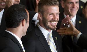 David Beckham hớn hở diện kiến Tổng thống Mỹ