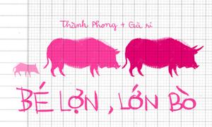 Tác phẩm 'Bé lợn, lớn bò' gây sốt trên mạng