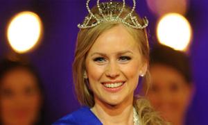 Chân dài Nga rạng rỡ đăng quang Miss Euro 2012