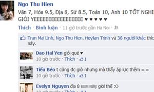 Teen khóc cười trên Facebook vì điểm tốt nghiệp