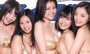 Chân dài Nhật khoe đường cong cổ vũ Olympic