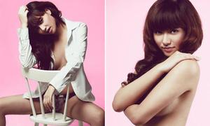Bộ ảnh bán nude gây tranh cãi của Hồng Quế
