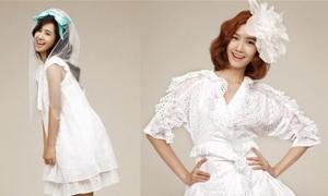 Người đẹp xứ Hàn đẹp dịu dàng với váy trắng