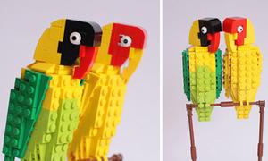 Mẫu lego hình chim nhìn thấy 'phê' luôn
