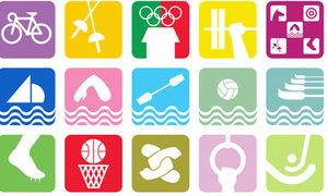 Biểu tượng môn thể thao Olympic qua các thời kì