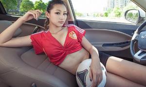 Người đẹp Trung Hoa nóng bỏng cùng trái bóng
