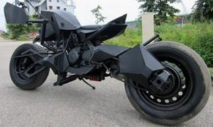 'Siêu môtô Batman' tự chế ở Lạng Sơn