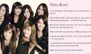 Fan cuồng SNSD xúc phạm mẹ vì 'động chạm' thần tượng