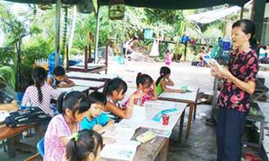 Lớp học bên cái 'ao bèo'