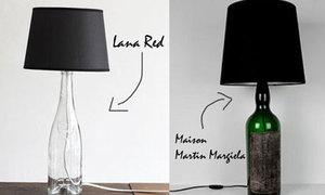 Chế đèn ngủ từ chai thủy tinh cũ